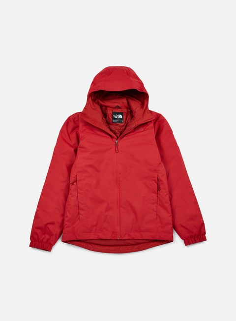 giacche the north face quest insulated jacket tnf red heather