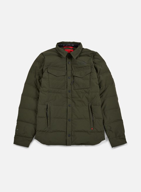 giacche the north face red hoodoo shirt jacket rosin green