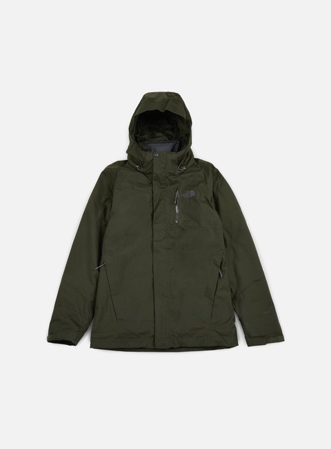 giacche the north face solaris triclimate jacket rosin green