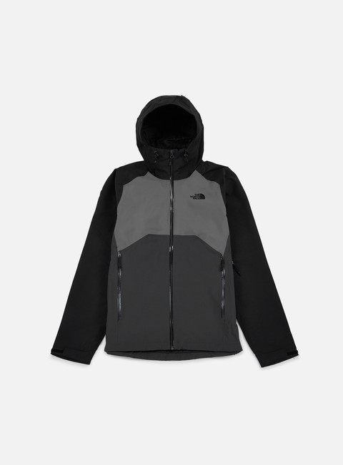 giacche the north face stratos jacket asphalt grey fusebox grey tnf black