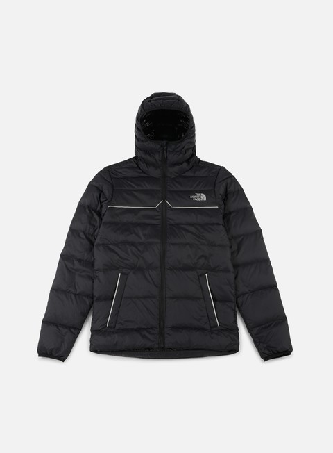 giacche the north face west peak down jacket tnf black silver reflective