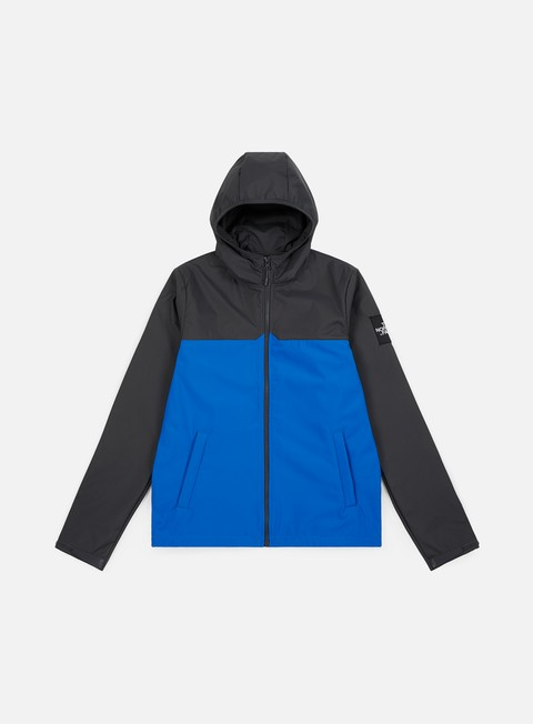 giacche the north face west peak softshel jacket bomber blue asphalt grey