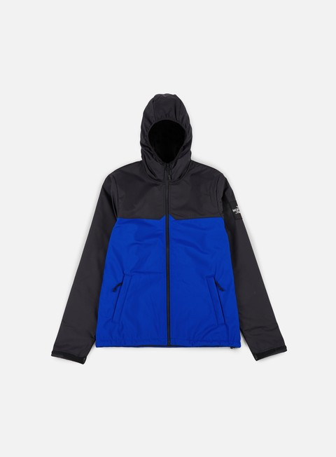 giacche the north face west peak softshell jacket tnf black bright cobalt blue
