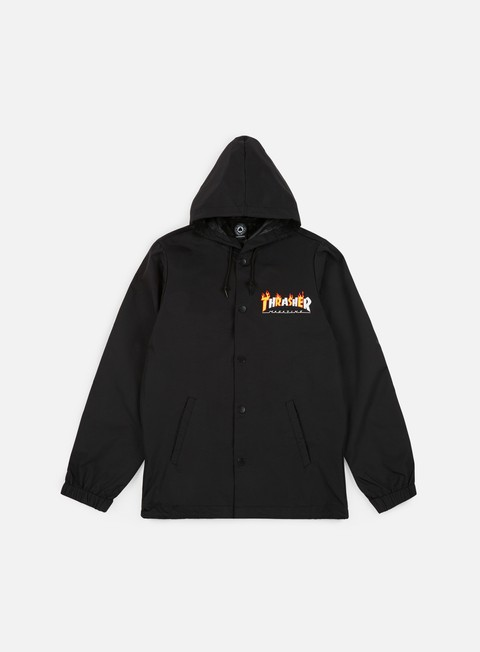 Outlet e Saldi Giacche con cappuccio Thrasher Flame Mag Coach Jacket