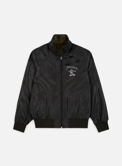 giacche thrasher gonz reverse coach jacket black camo
