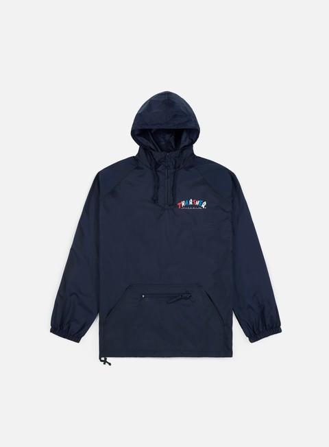 giacche thrasher knock off anorak jacket navy