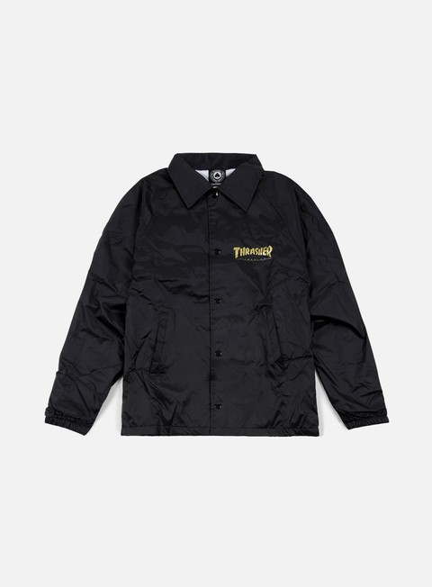 giacche thrasher pentagram coach jacket black