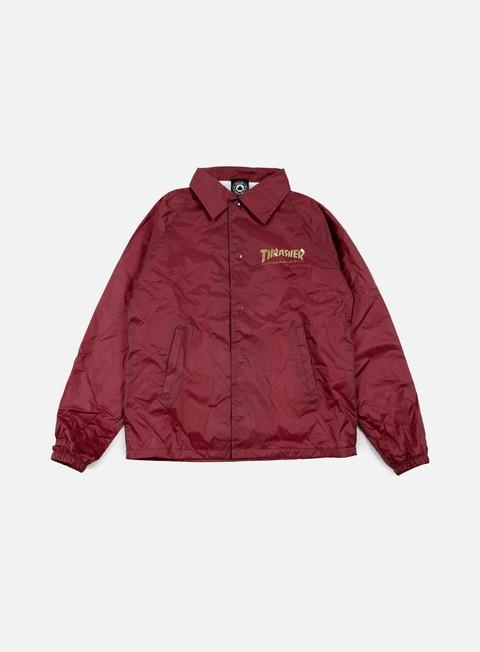 giacche thrasher pentagram coach jacket maroon