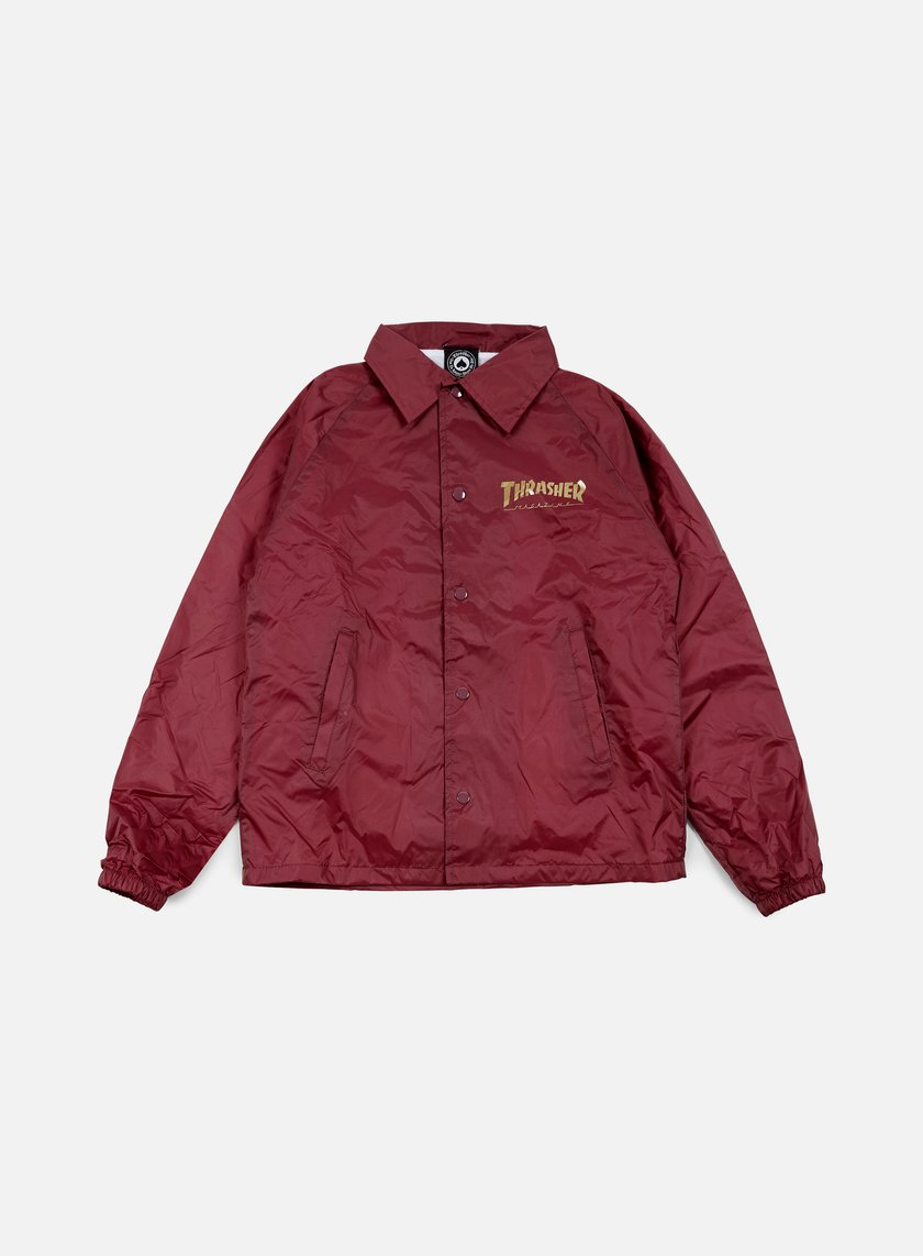 Thrasher - Pentagram Coach Jacket, Maroon