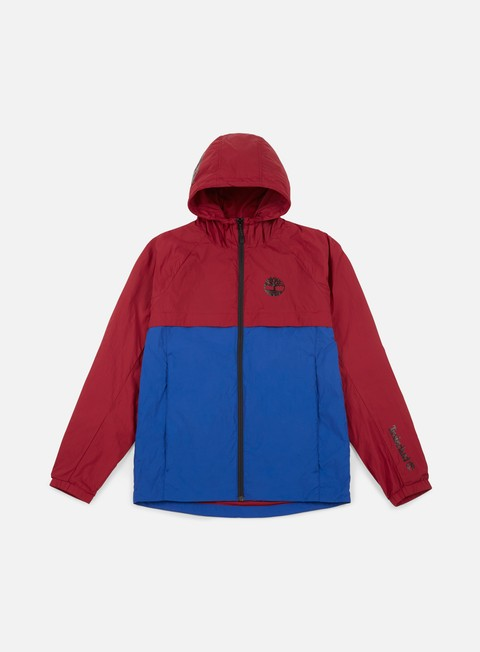giacche timberland colour block windbreaker biking red