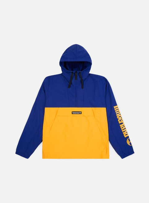 giacche timberland hooded windbreaker gold blue