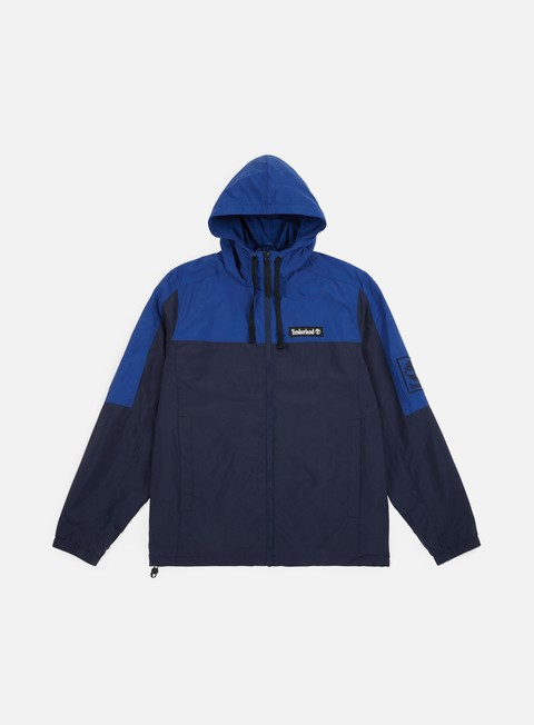 giacche timberland windbreaker jacket black iris blue