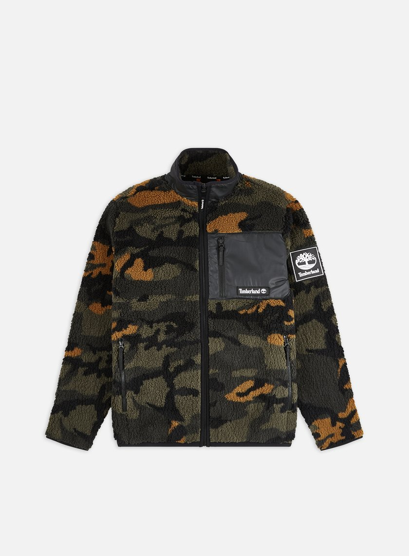 Timberland YC Camo Sherpa Fleece Jacket