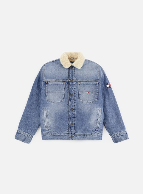 Outlet e Saldi Giacche Intermedie Tommy Hilfiger Oversize Sherpa Trucker Jacket