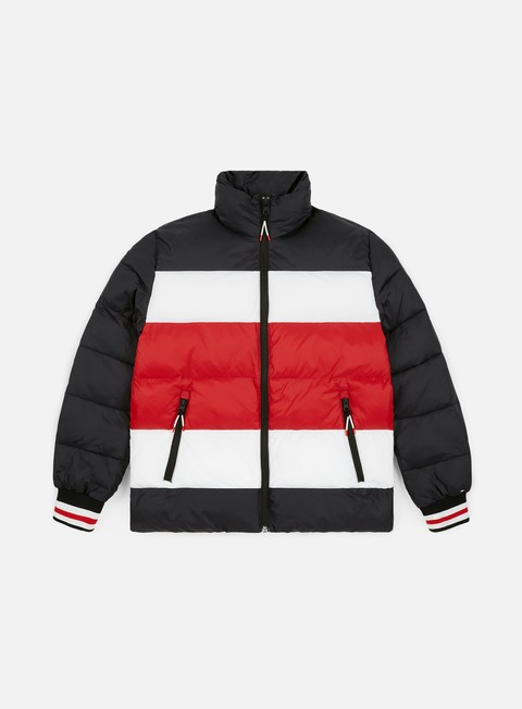 Tommy Hilfiger Stripe Quilted Bomber Jacket