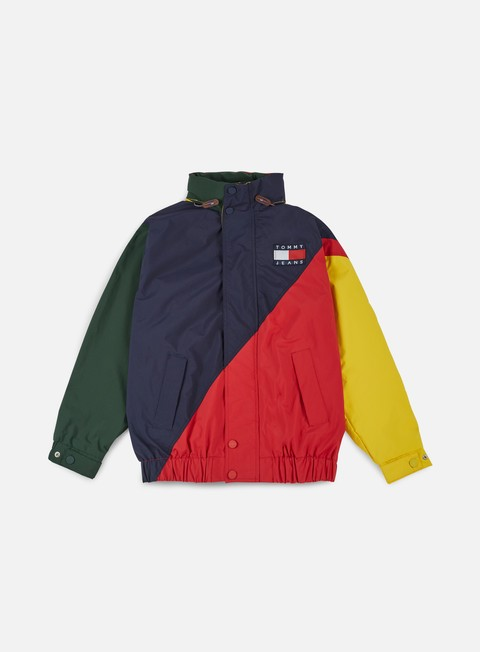 giacche tommy hilfiger tj 90s colorblock sailing jacket salsa multi