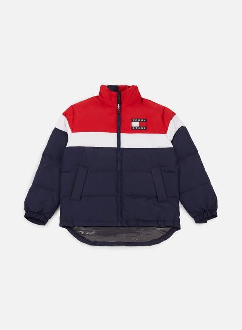 giacche tommy hilfiger tj 90s rwb puffa jacket peacoat multi