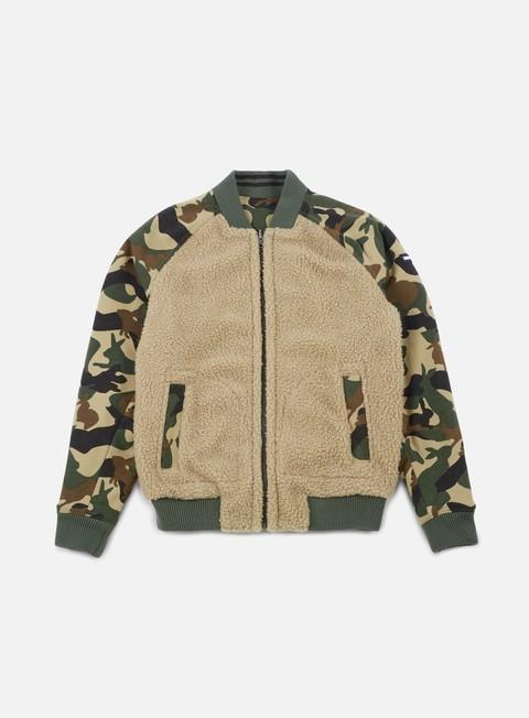 giacche tommy hilfiger tj camo sherpa mix jacket sesame camo print