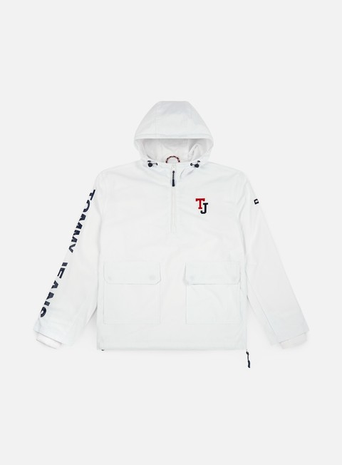 giacche tommy hilfiger tj logo pullover jacket classic white