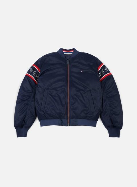 giacche tommy hilfiger tj padded reversible bomber jacket black iris