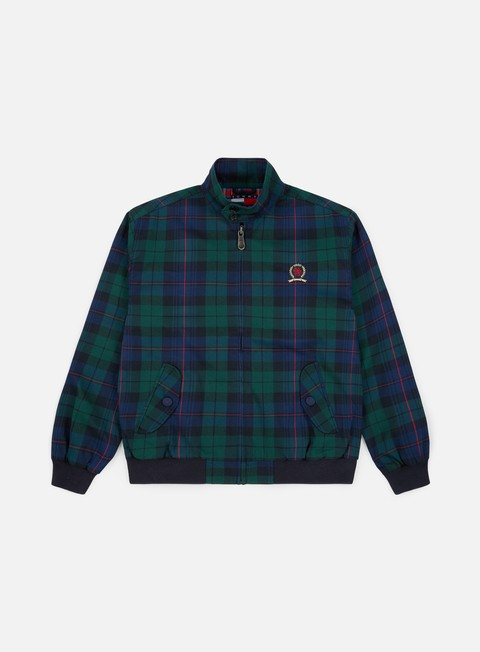 Tommy Hilfiger TJ Plaid Crest Harrington Jacket