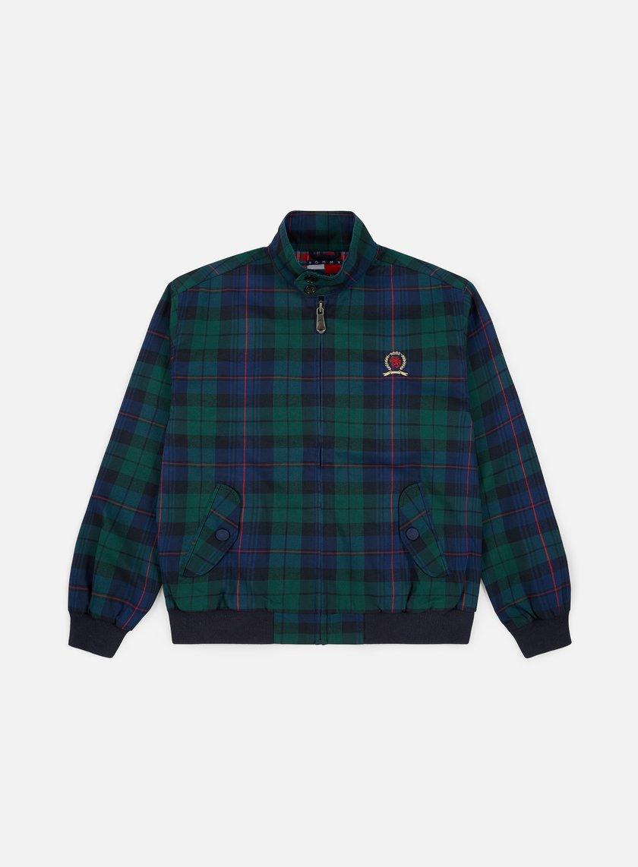 Tommy Hilfiger TJ Plaid Crest Harrington Jacket