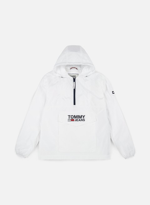 giacche tommy hilfiger tj pop over anorak jacket classic white