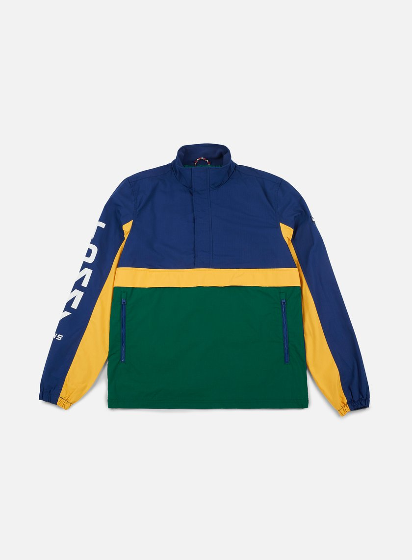 TOMMY HILFIGER - TJ Retro Block Pullover Jacket, Evergreen/Multi ...