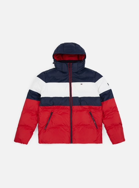 Outlet e Saldi Giacche Invernali Tommy Hilfiger TJ Rugby Stripe Puffa Jacket