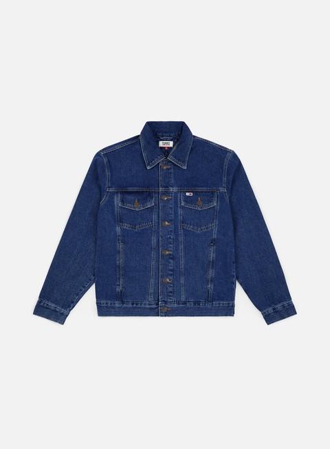giacche tommy hilfiger tommy classics oversiz denim jacket tommy classics mid blue rigid