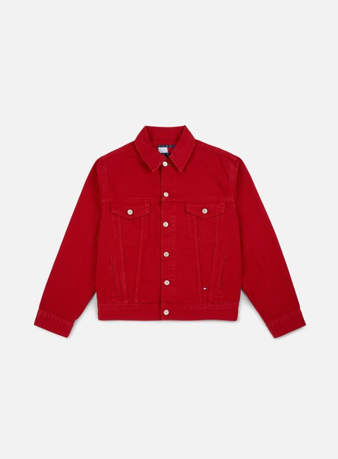 giacche tommy hilfiger wmns tj 90s coloured denim jacket barbados cherry
