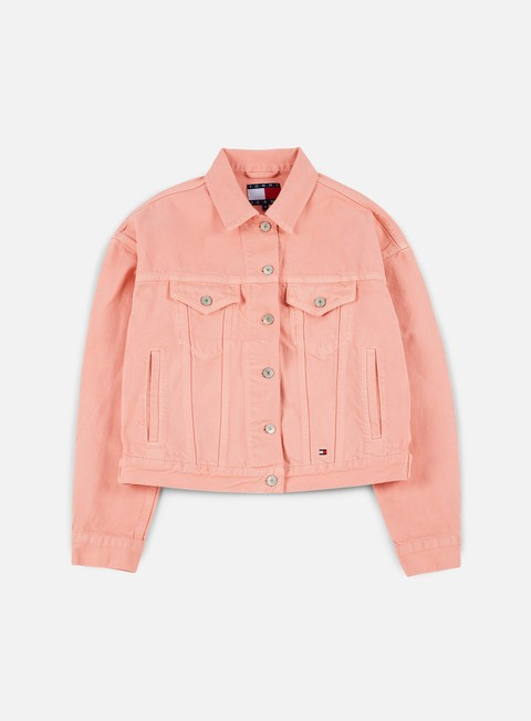 giacche tommy hilfiger wmns tj 90s girlfriend trucker jacket quartz pink