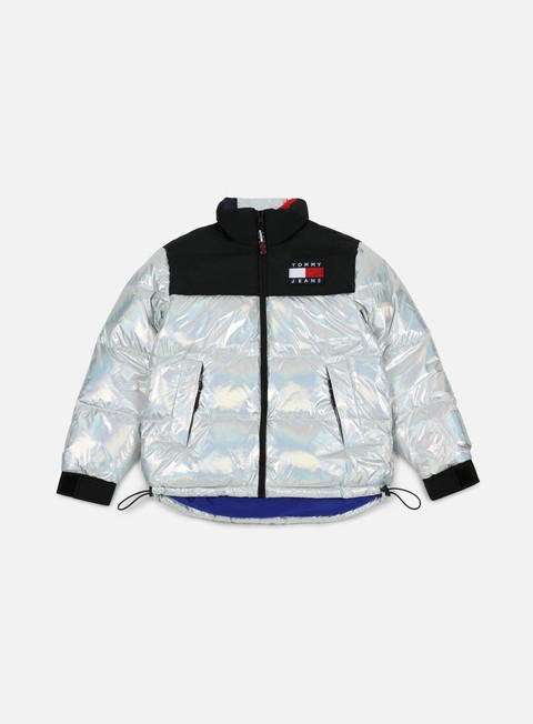 giacche tommy hilfiger wmns tj 90s original puffa jacket metallic silver multi