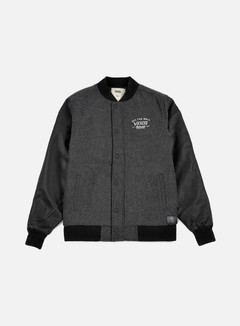 Vans - Deming Varsity Jacket, Charcoal Heather 1
