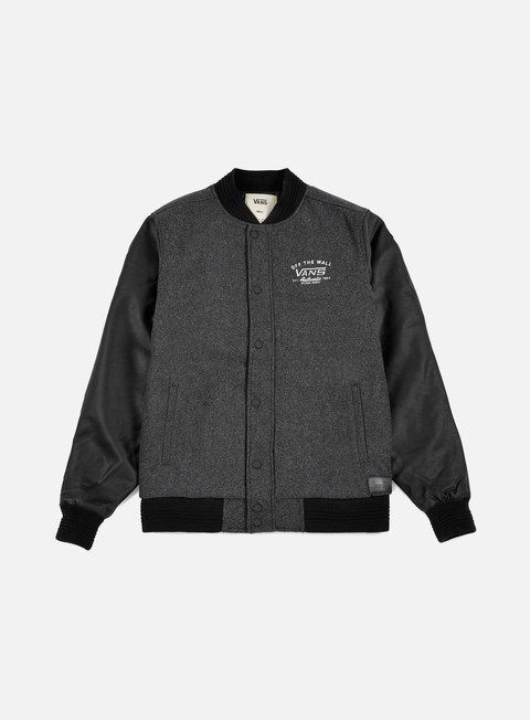 giacche vans deming varsity jacket charcoal heather