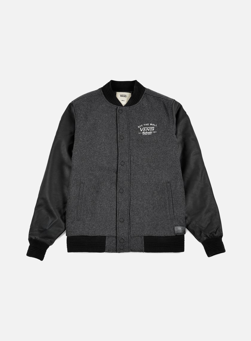 Vans - Deming Varsity Jacket, Charcoal Heather
