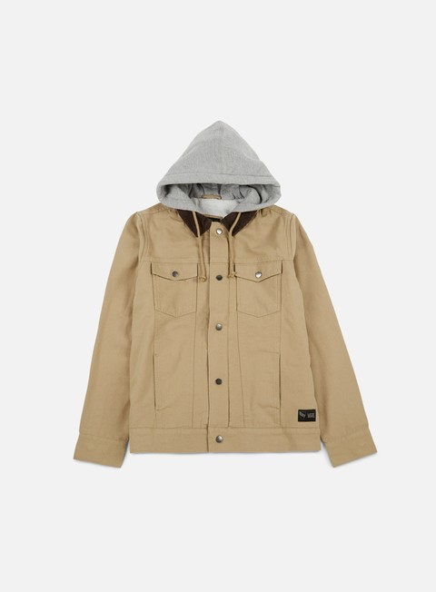 giacche vans edict ii jacket khaki