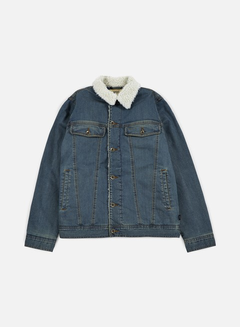 giacche vans hargill jacket stone wash denim
