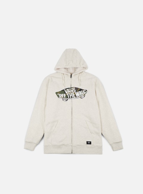 giacche vans hessel zip hoodie oatmeal heather