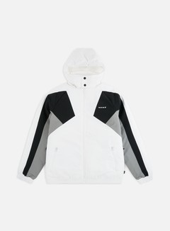 Vans - Hi-Point Blocked Sport Jacket, White/Black