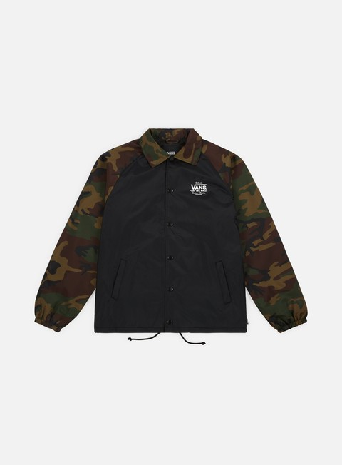 giacche vans torrey coach jacket black camo