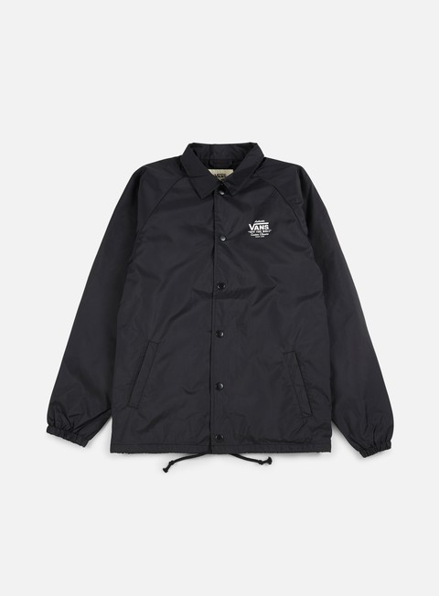 giacche vans torrey coach jacket black white