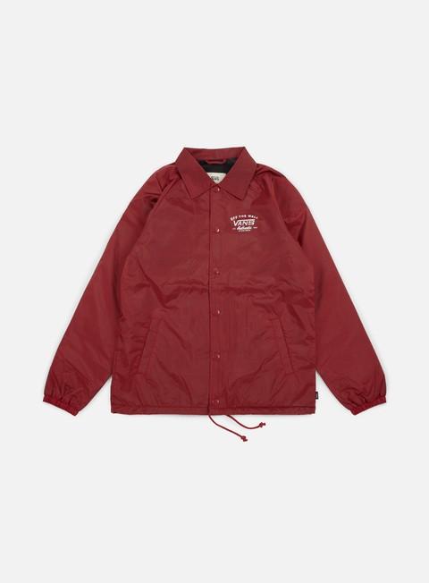 giacche vans torrey coach jacket red dahlia