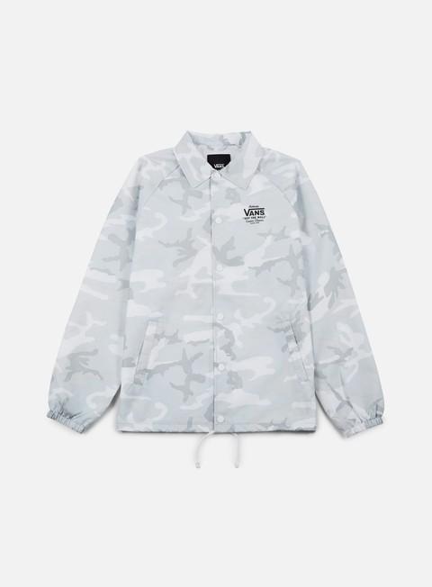 giacche vans torrey coach jacket white camo