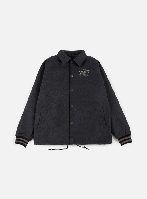 giacche vans torrey varsity jacket new charcoal