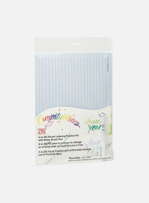 Combo Pack di Marker Zig A to Zig Brush Lettering Practice Kit