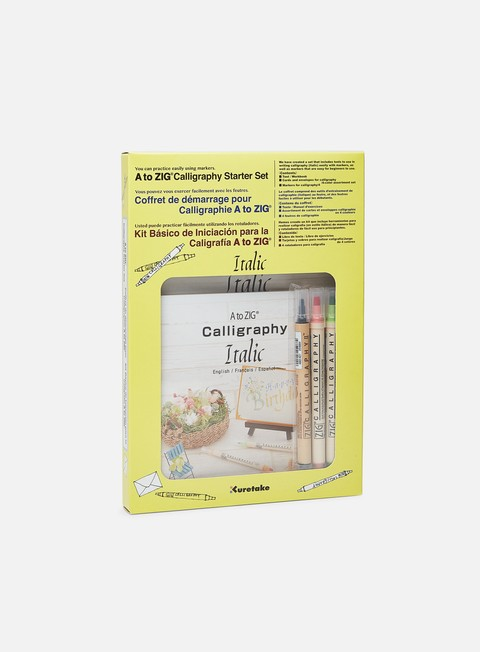 Combo Pack di Marker Zig A to Zig Calligraphy Starter Set Italic