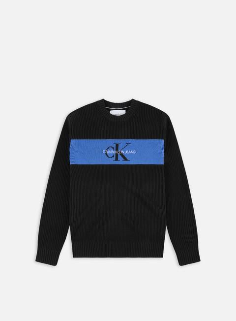 Maglioni girocollo Calvin Klein Jeans CK Box Stripe Sweater