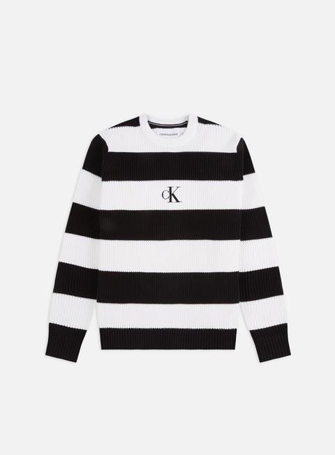 Crewneck sweaters Calvin Klein Jeans Striped Monogram Sweater
