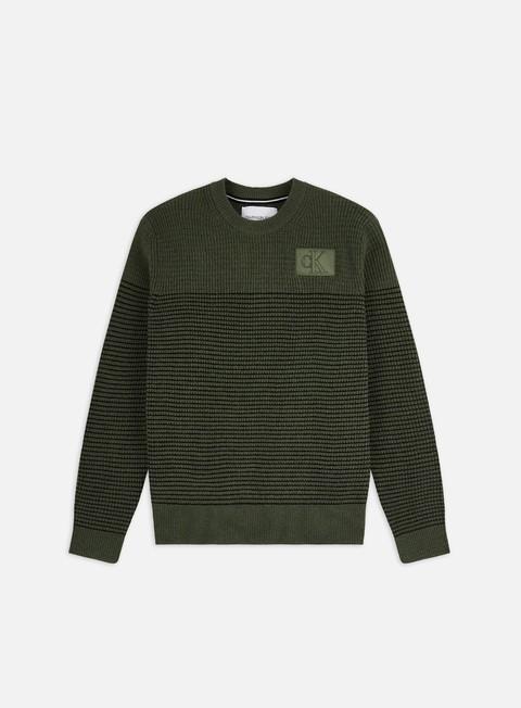 Crewneck sweaters Calvin Klein Jeans Textured Striped CN Sweater